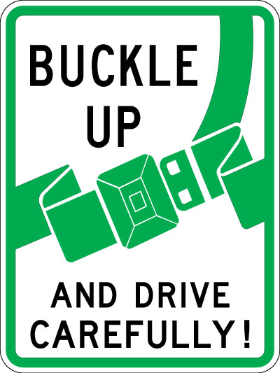 Buckle Up Signs Clipart.