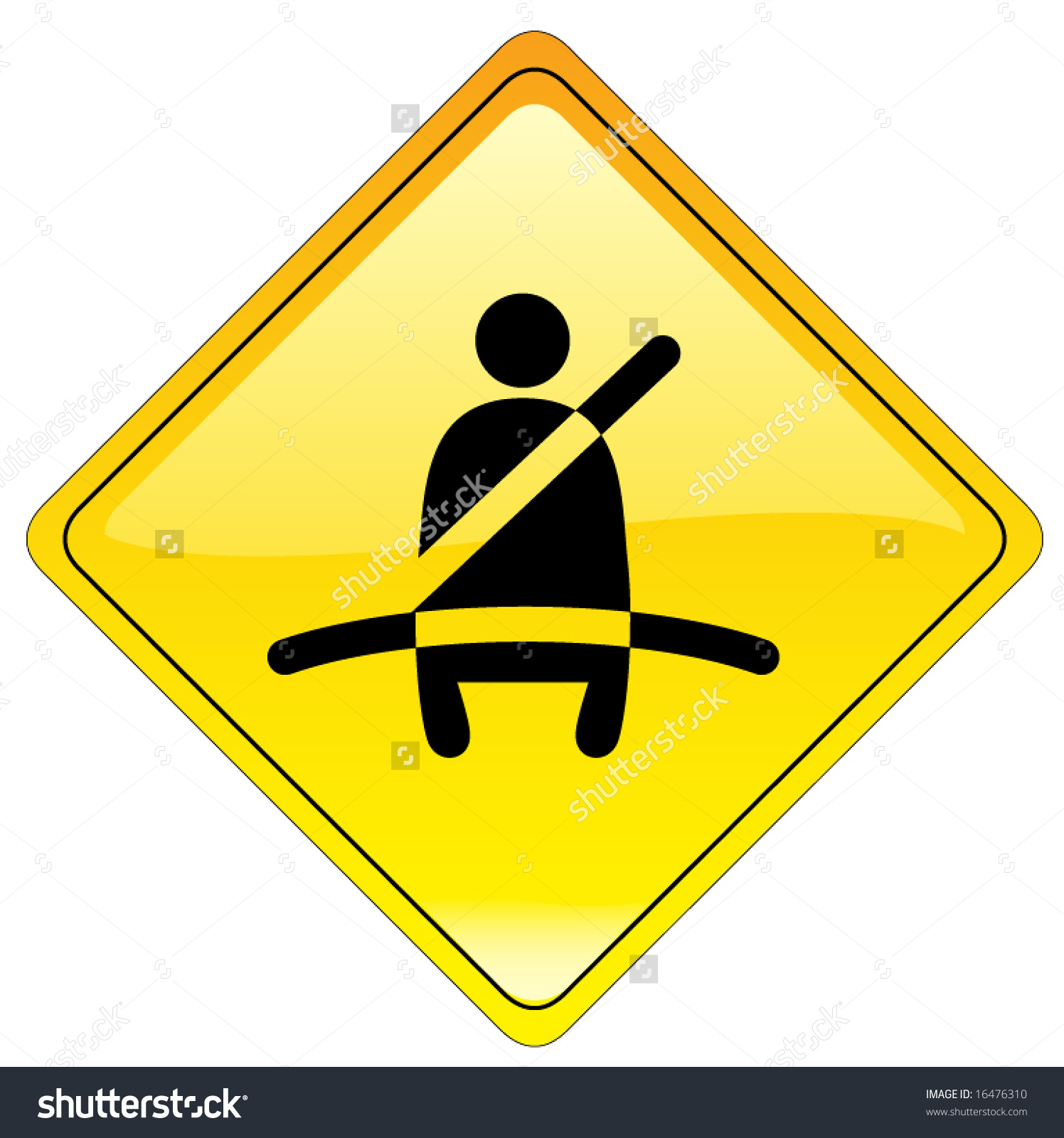 Mandatory Buckle Sign Available Jpeg Stock Vector 16476310.