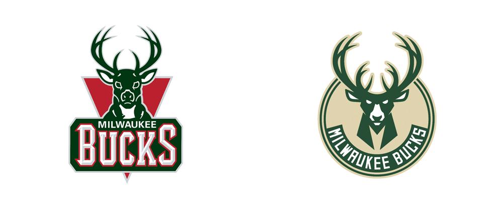 Brand New: New Logos for Milwaukee Bucks by Doubleday.