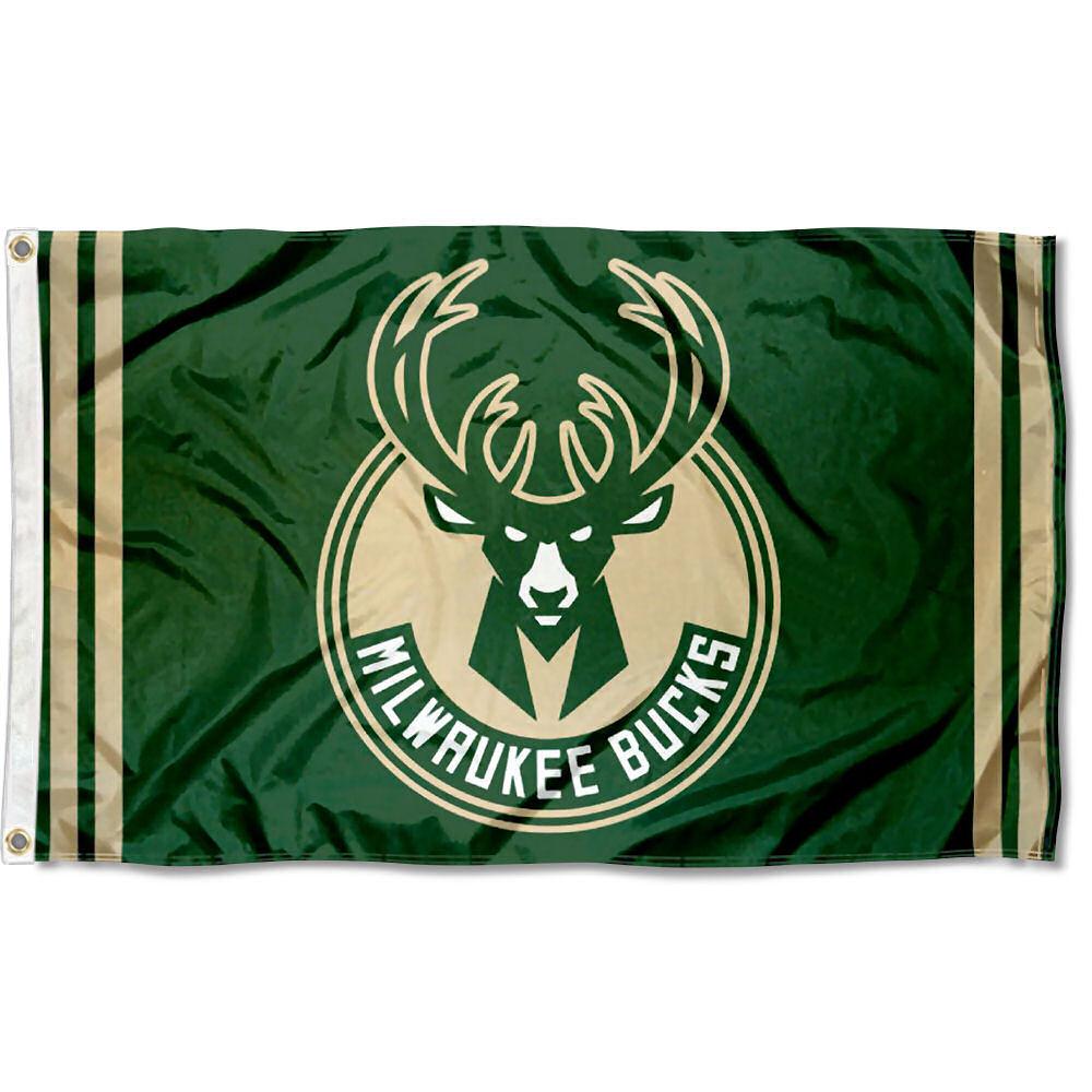 Milwaukee Bucks New Logo Flag Large 3x5.