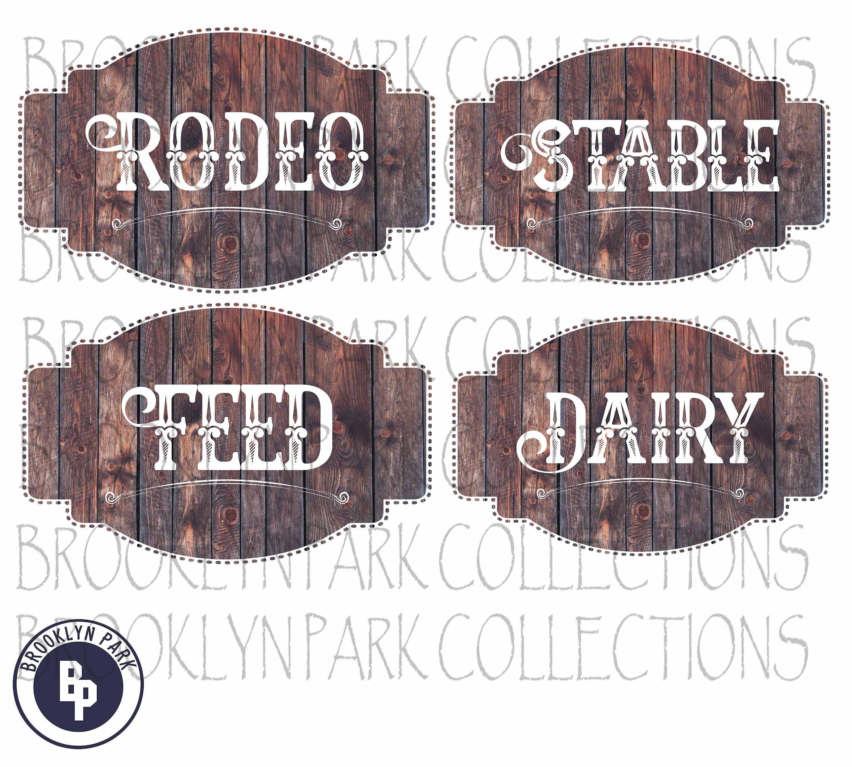 Ranch House BUNDLE Rustic Wooden Label Sign Clip Art Instant.