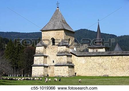 Stock Images of Romania,Moldavia Region,Southern Bucovina,Sucevita.