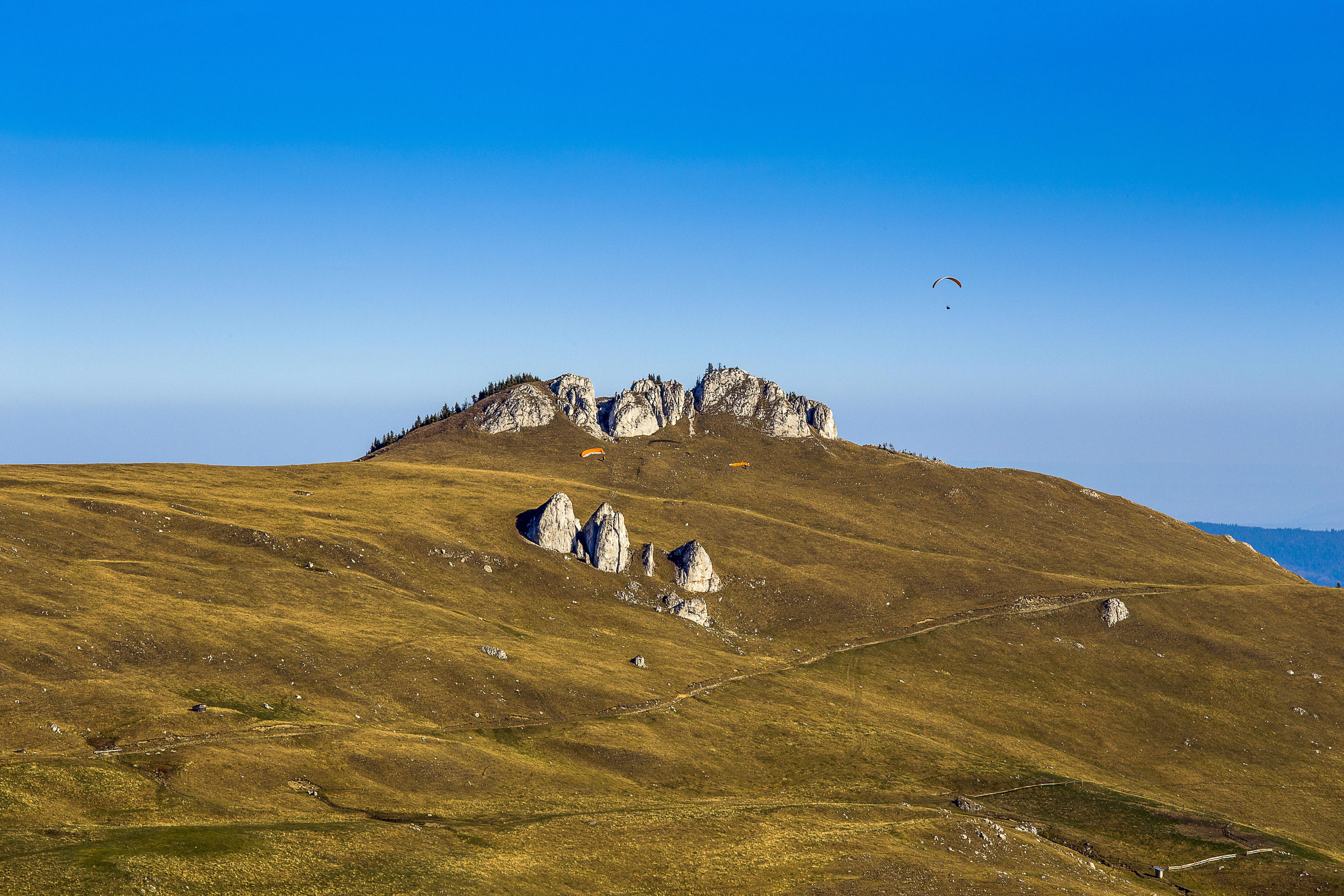 Mountain and Hill landscape in bucovina Romania.