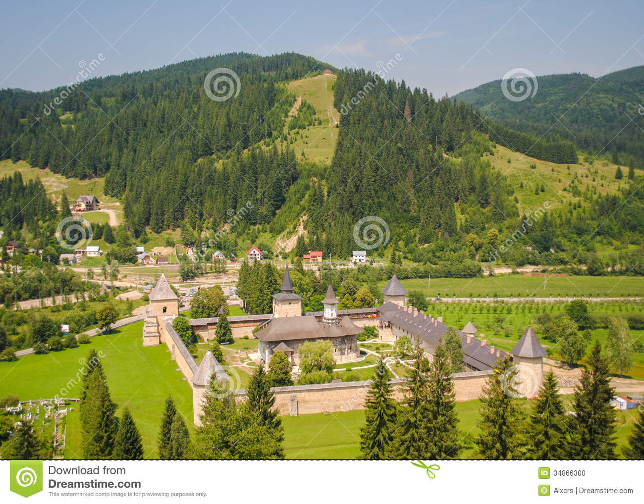 Sucevita Monastery, Romania Stock Photo.