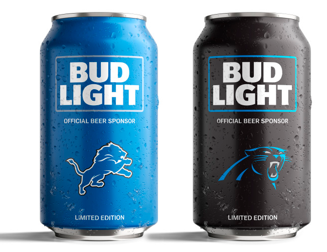 Bud Light's Popular NFL Team Cans Are Back With a New Minimalist.