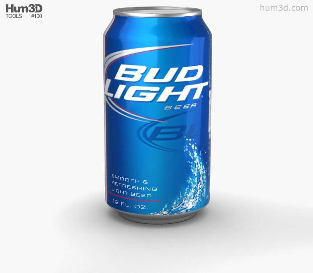 Budlight Beer Can 330 ml 3D model.