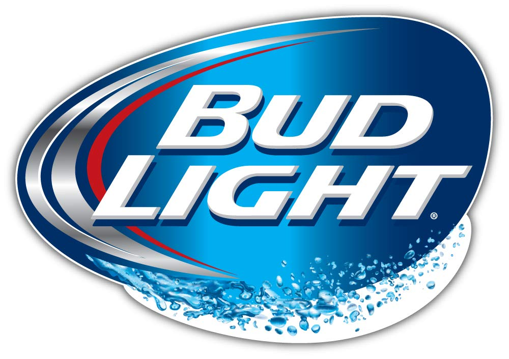Bud Light Logo Sticker Car Bumper Decal 5\'\' X 4\'\'.