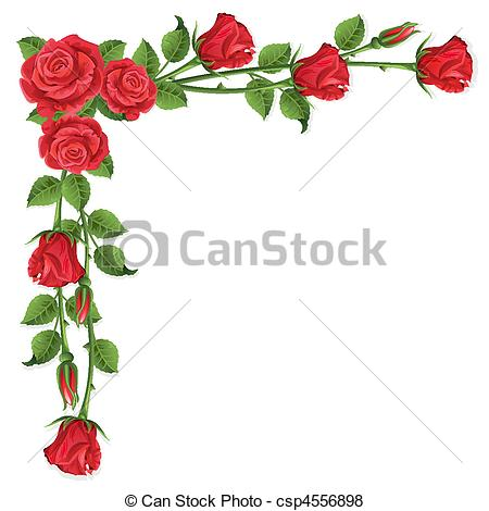 Red rose buds clipart.