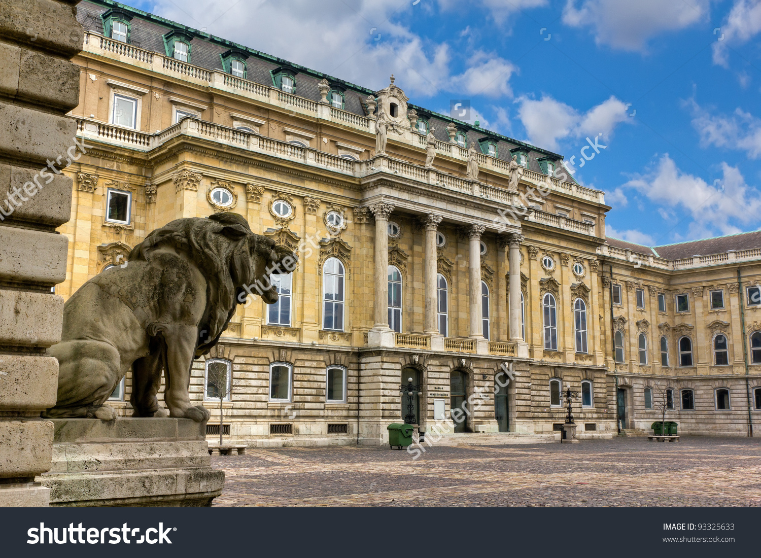 Buda Castle Royal Palace Inner Courtyard Stock Photo 93325633.