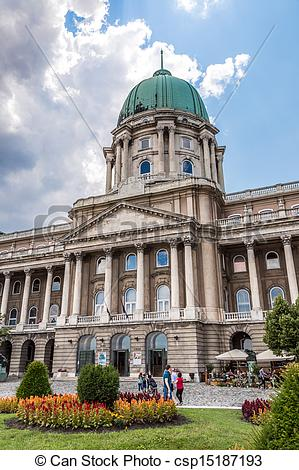 Stock Photographs of Budapest, Buda Castle or Royal Palace with.