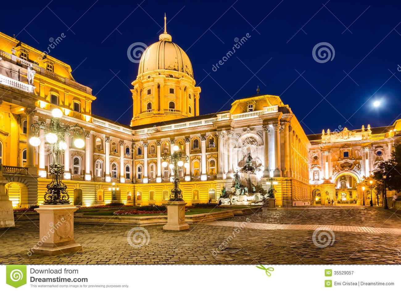 Courtyard, Buda Castle, Royal Palace In Budapest Stock Photo.