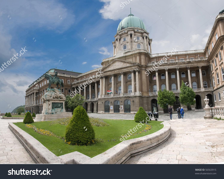 Budapest Buda Castle Royal Palace Horse Stock Photo 56563915.