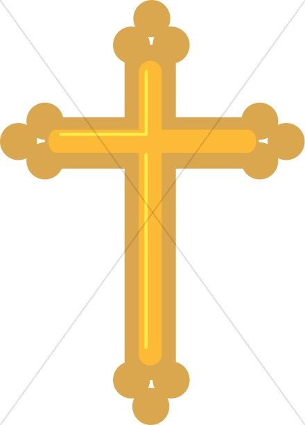 Gold Budded Cross.