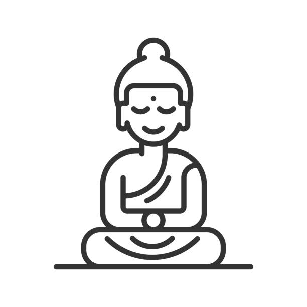 Best Buddha Statue Illustrations, Royalty.