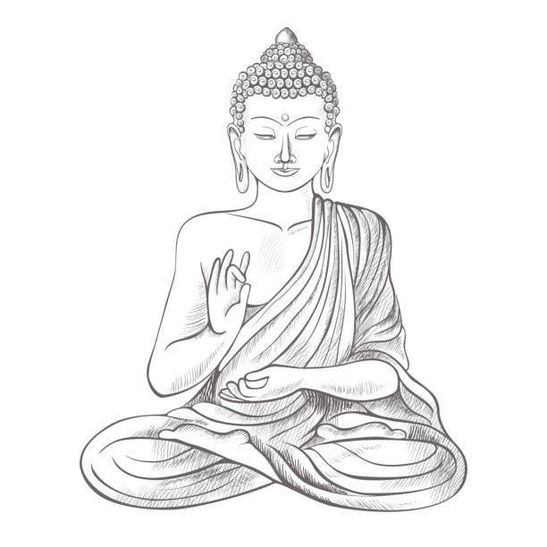 Best Buddha Illustrations, Royalty.