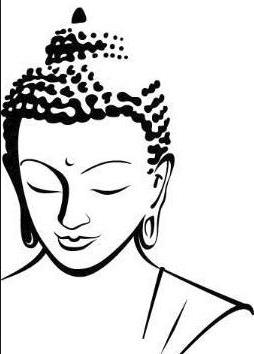 Buddha head sketch.