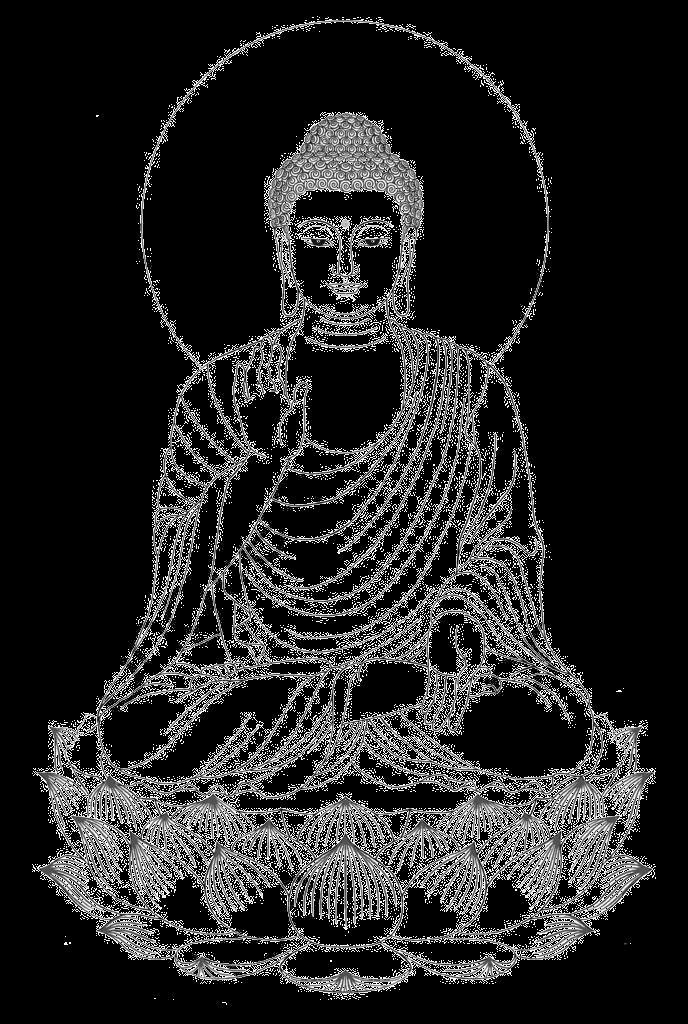 Shakya Muni Painted Portrait Sitting Buddha Drawing, Buddha Clipart.
