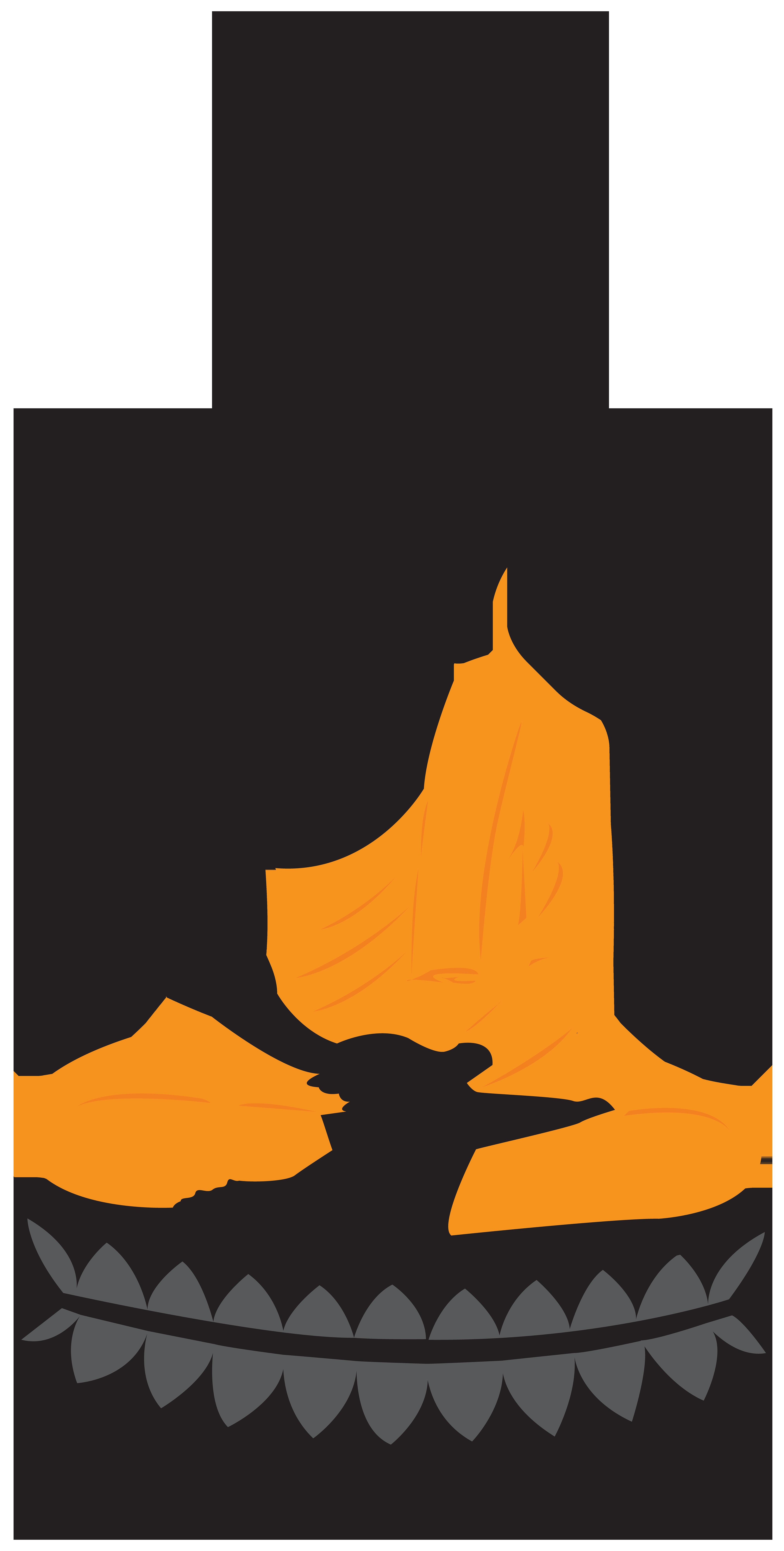 Buddha Lotus Statue PNG Clip Art.