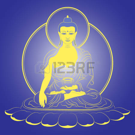 128 Glowing Buddha Stock Vector Illustration And Royalty Free.