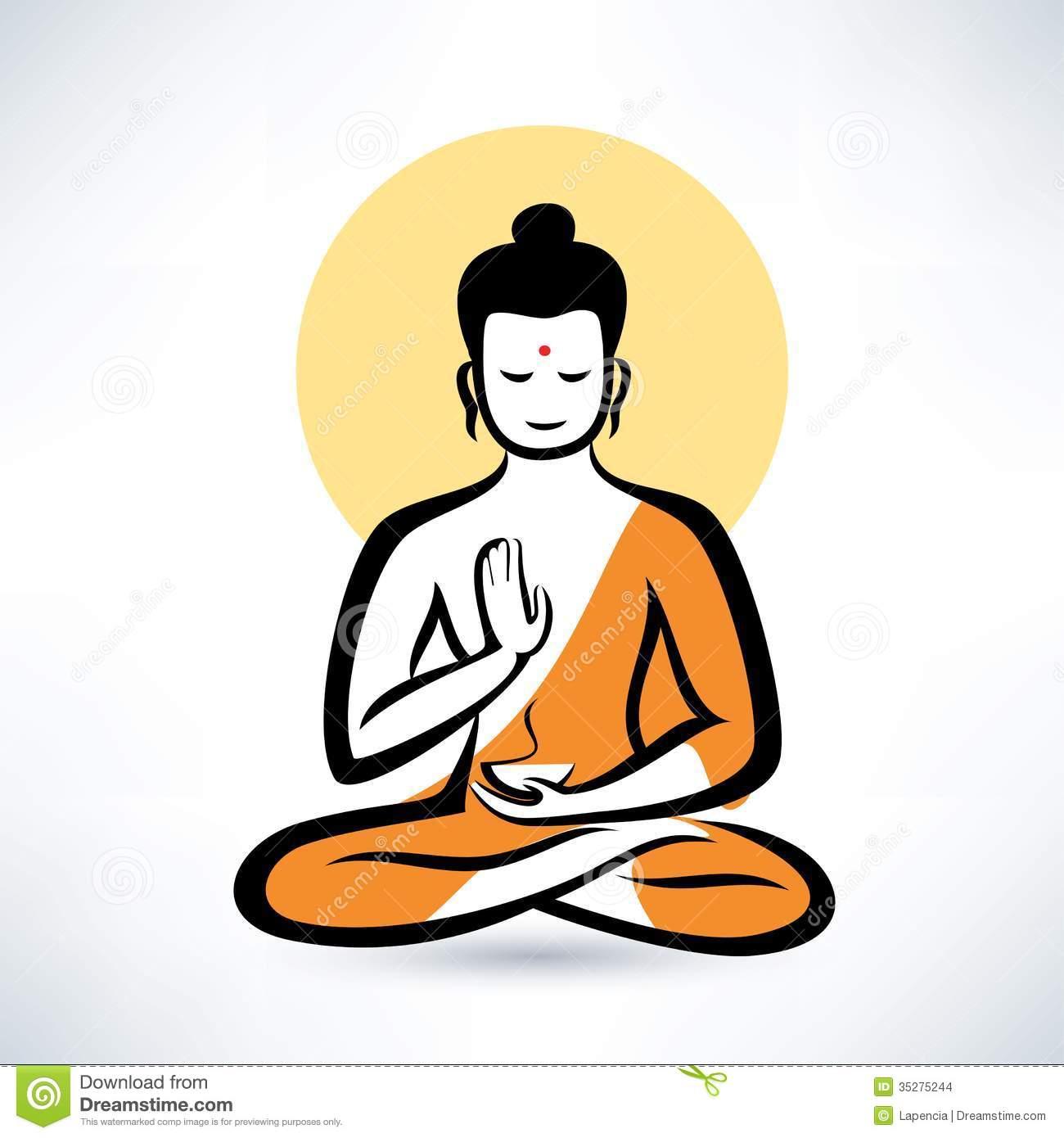 Man meditation clipart.