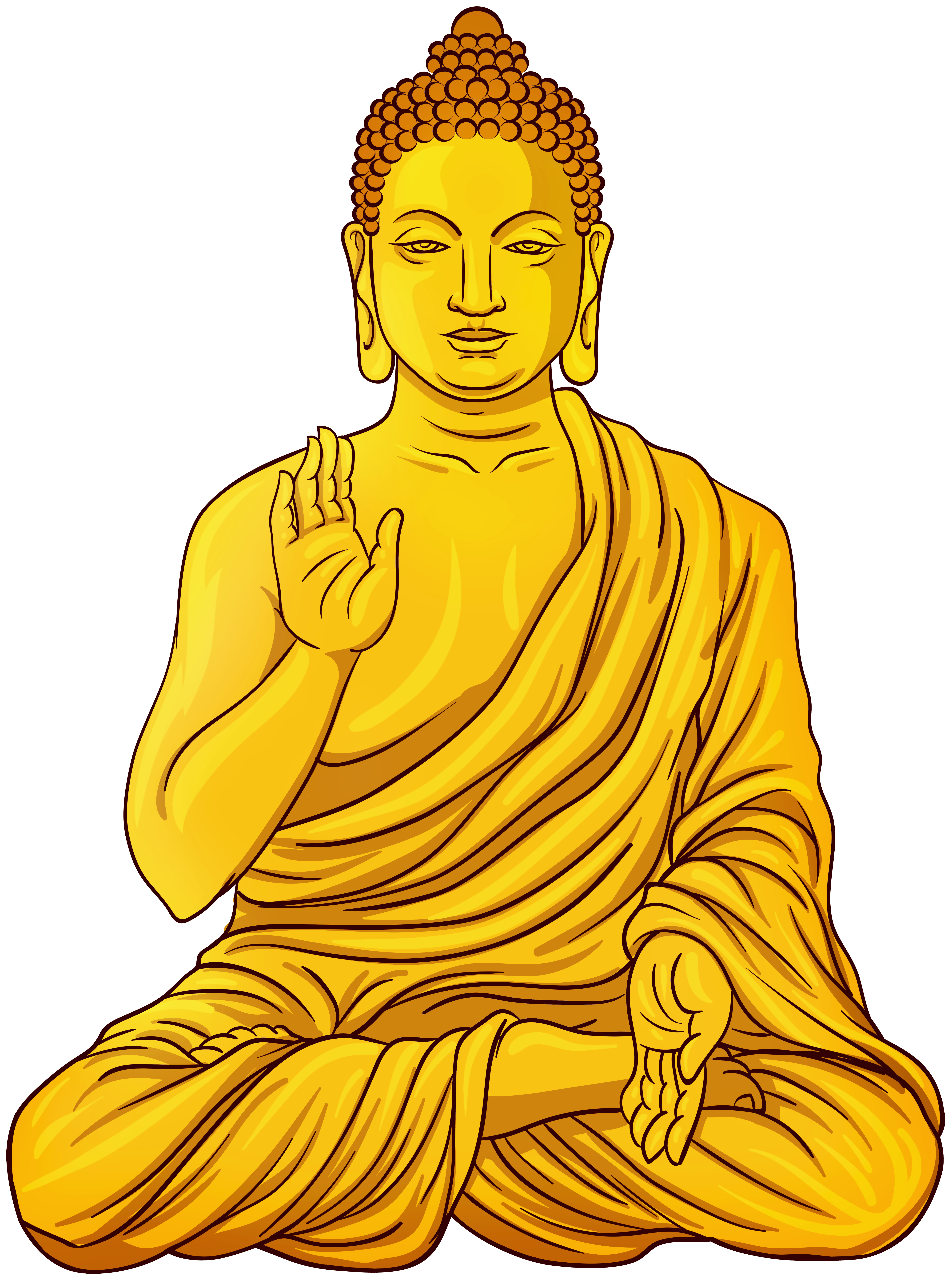 Gold Buddha Statue PNG Clip Art.