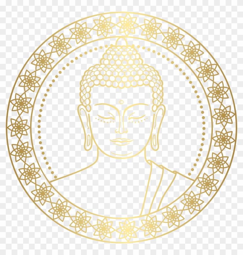 Gold Buddha Png Clip Art, Transparent Png.