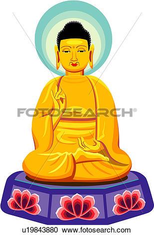Buddha statue Clipart Illustrations. 1,004 buddha statue clip art.