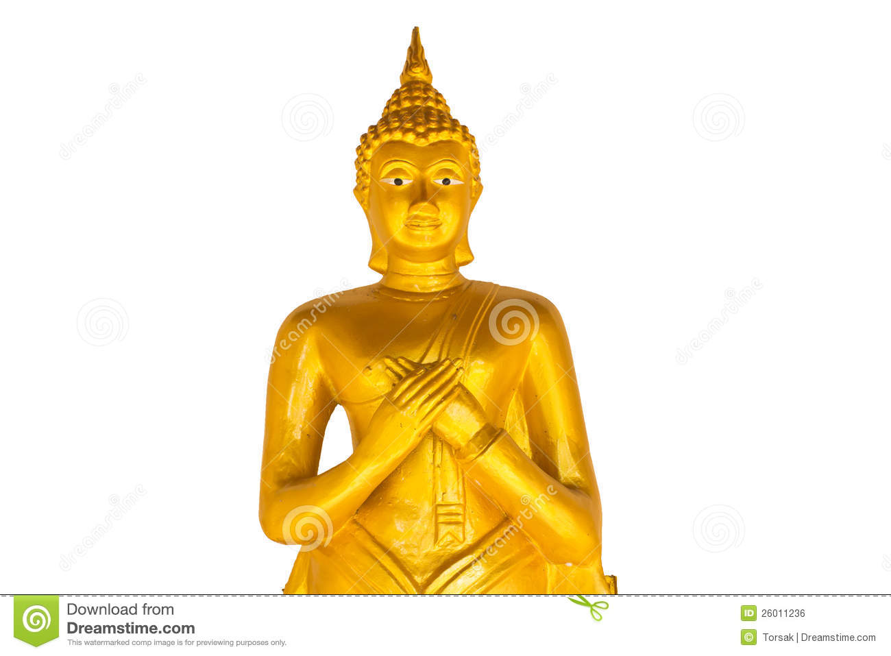 Thai Buddha Golden Statue. Royalty Free Stock Image.