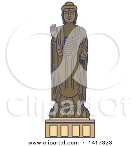 Clipart 3d Yellow Buddha Statue 1.