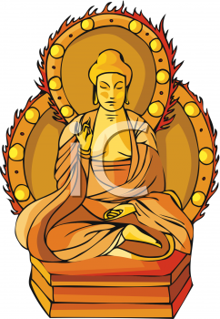 Exotic Buddha Statue Clipart Picture.