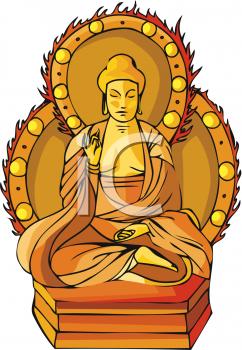 Exotic Buddha Statue Clipart Picture.
