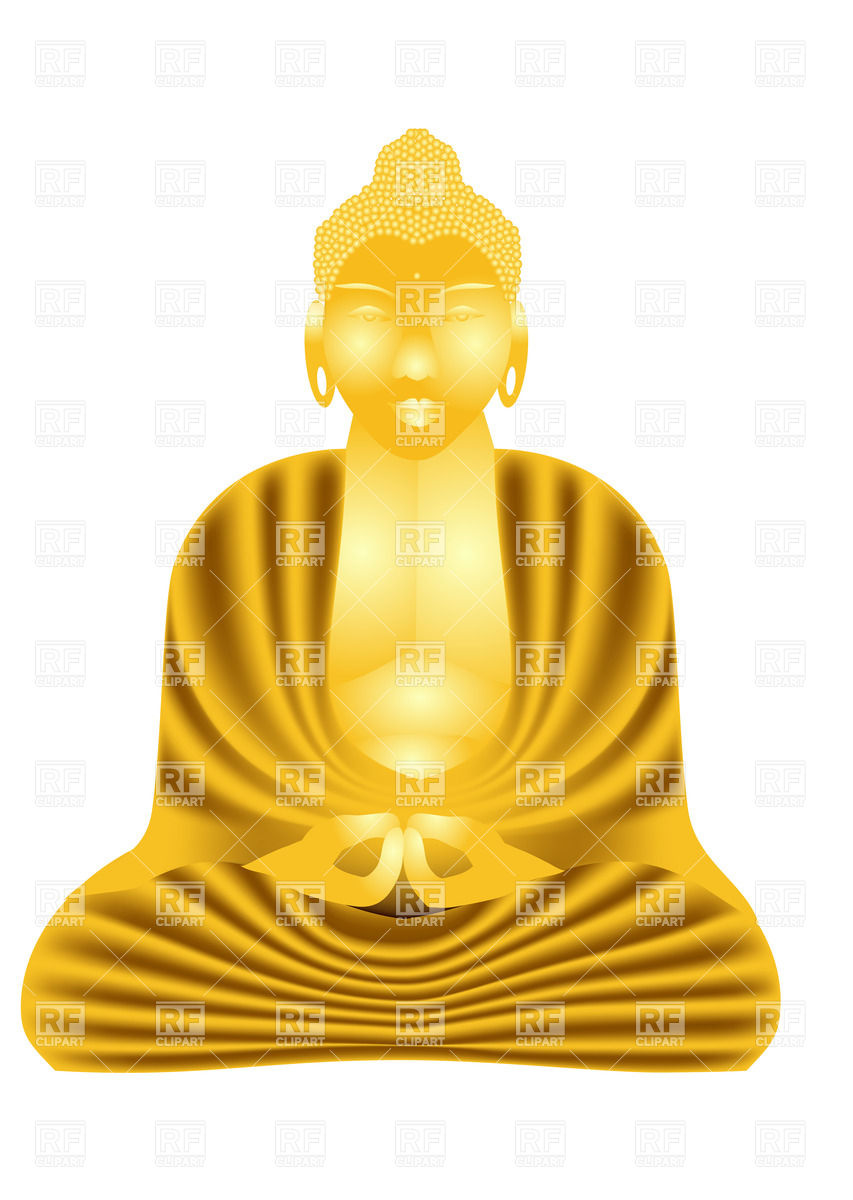 Statue of golden Buddha Vector Image #25694.