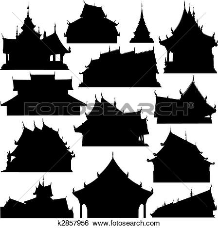 Clip Art of Temple foregrounds k2858516.