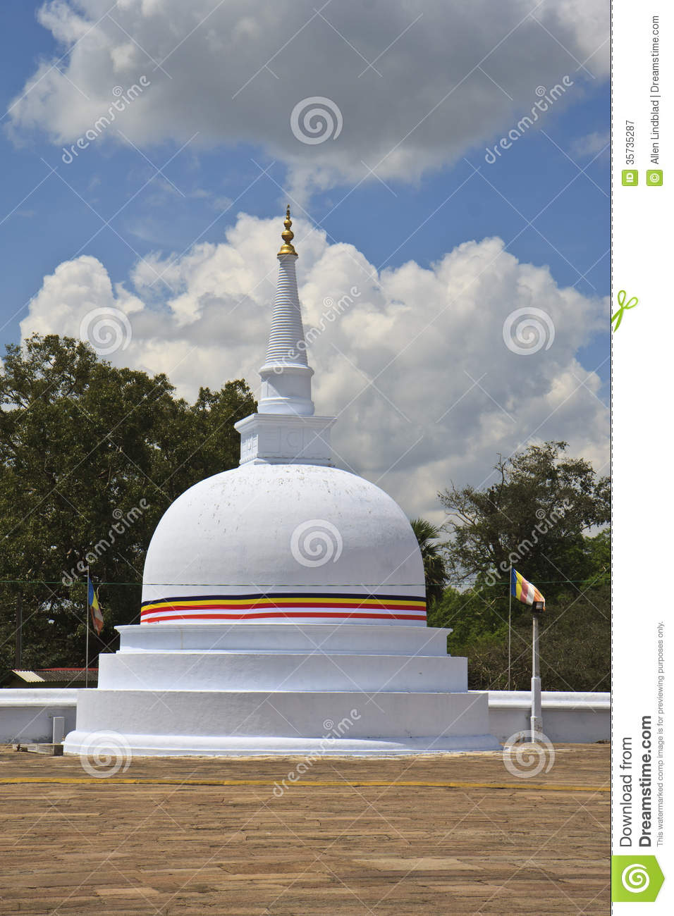 Buddhist Dagoba Royalty Free Stock Photography.
