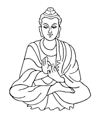 Buddha Clip Art of Birth.