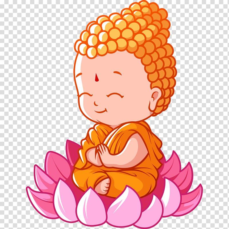 Buddha Chevy illustration, Buddhism Bhikkhu Cartoon.