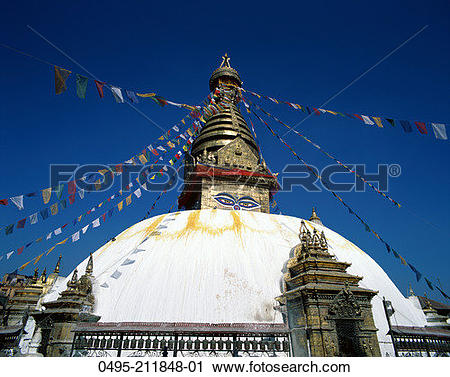 Stock Photography of Nepal, Kathmandu, Bodhnath Temple, Buddhist.