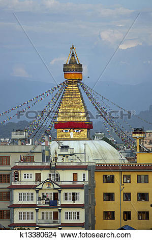 Stock Photo of Boudhanath Buddhist Stupa k13380624.