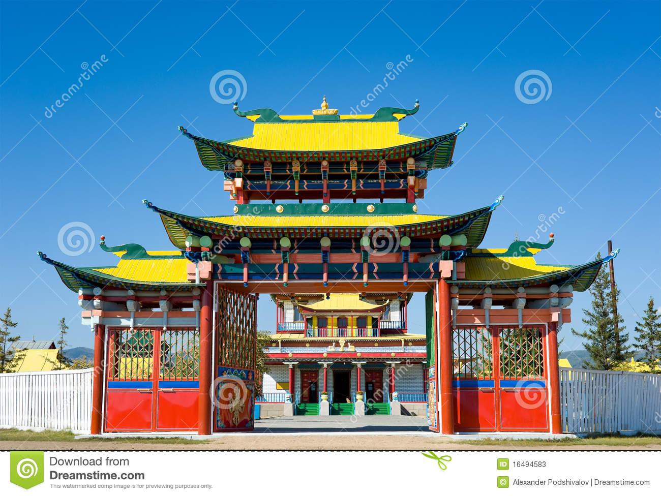 Buddhist Temple Gate Stock Photos.