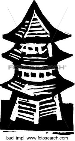 Clipart of Buddhist Temple bud_tmpl.