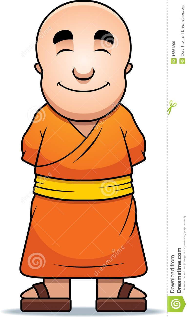Buddhist Monk Clipart.
