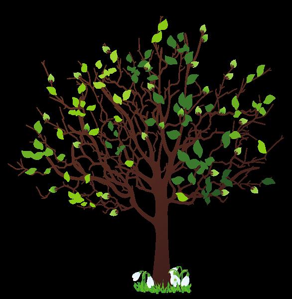Budding Tree Clip Art.