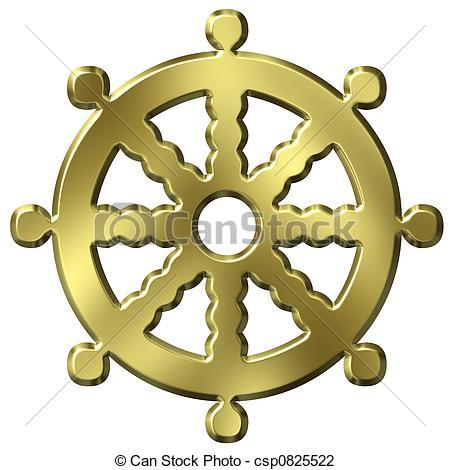 Clip Art of Buddhism Symbol.