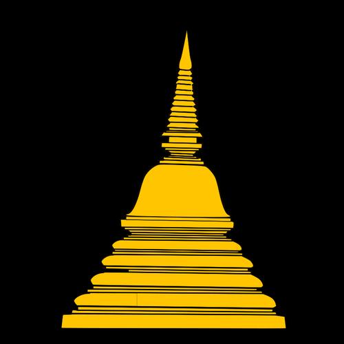 Buddhist temple vector clip art.
