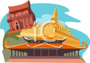 Clipart Image of Buddhist Temples.
