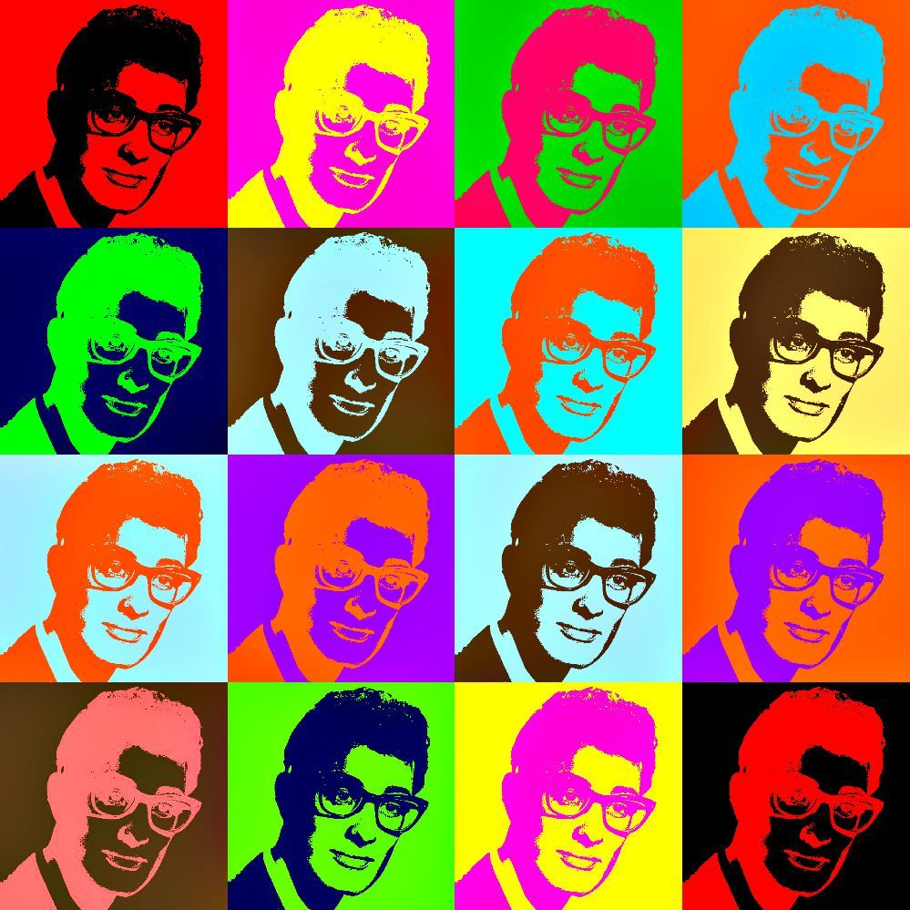 Buddy Holly Pop Art.