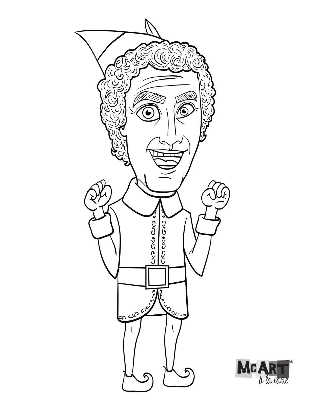 McArt à la Carte: Buddy the Elf coloring page!.