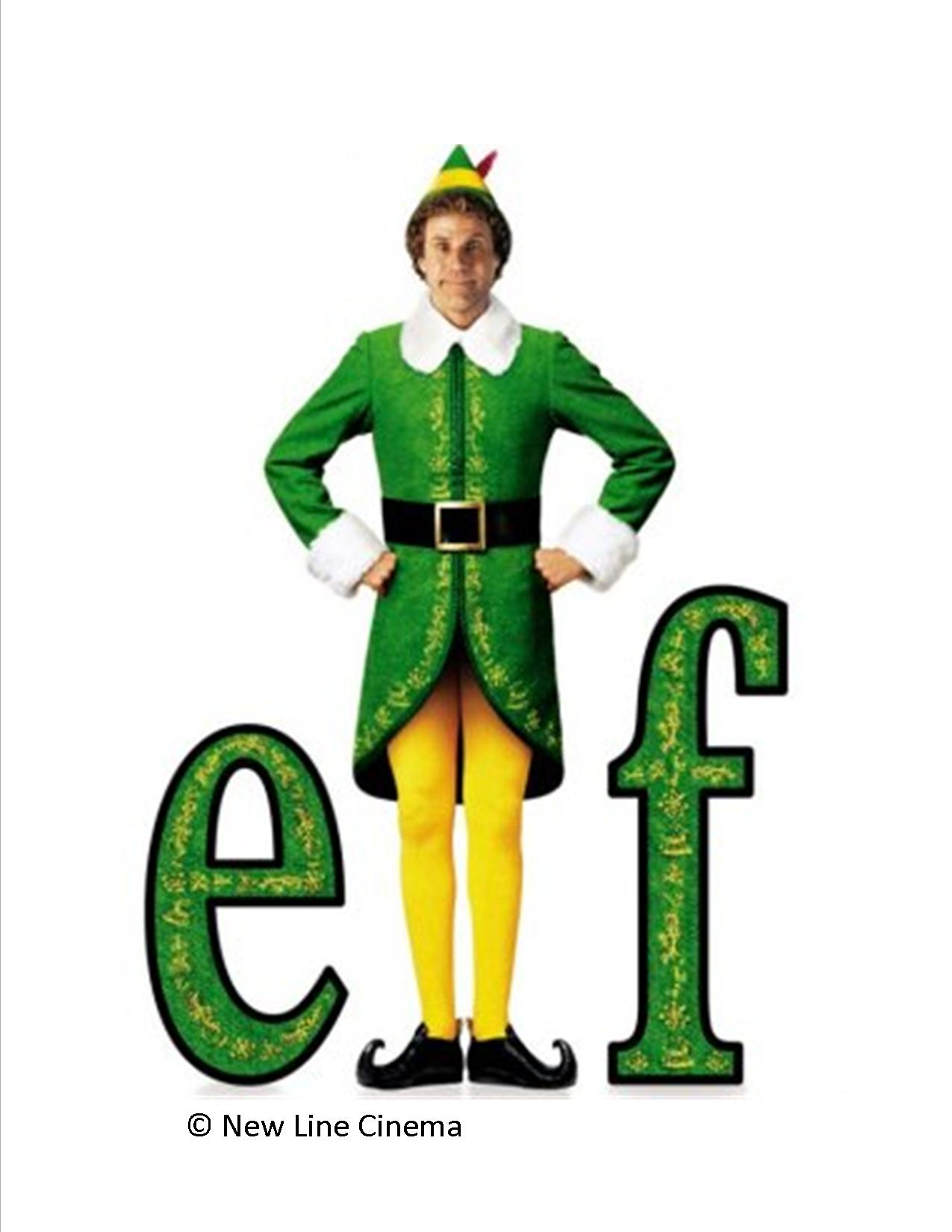 Elf the movie clipart.
