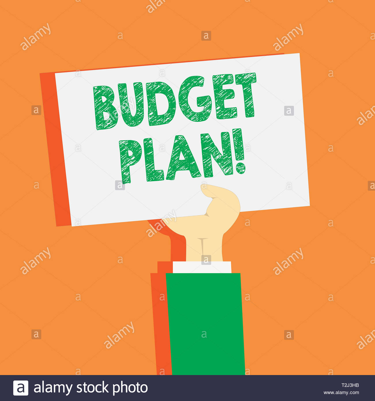 Handwriting text writing Budget Plan. Conceptual photo estimate of.