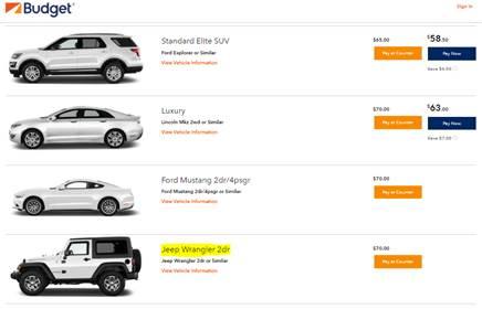 Budget Car Rental FAQ.